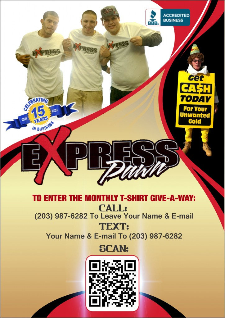 Express Pawn Flyer 2 725x1024 WIN AN EXPRESS PAWN T SHIRT!